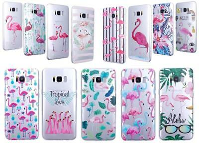 iProtect Protective Case Cover Flamingo Design for Apple, Samsung and Huawei