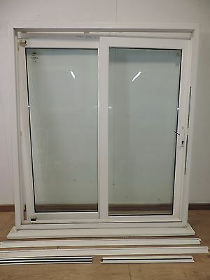 Aluminium double glazed patio door white for Double glazed upvc patio doors