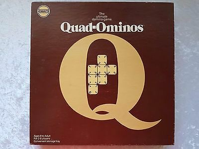 Quad-Ominoes The Ultimate Domino Game - Vintage Quad Dominoes Australian Version