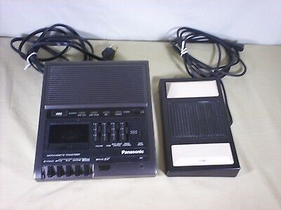 Panasonic RR-930 Microcassette Transcriber Recorder Player Pedal RP-2692 Tested!