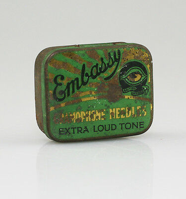 EMBASSY 'Extra Loud Tone' Gramophone Needle Tin (LZ79)