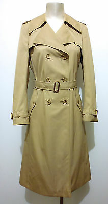 BEGHE' VINTAGE '70 Trench Impermeabile Donna Woman Over Coat Sz.S - 42