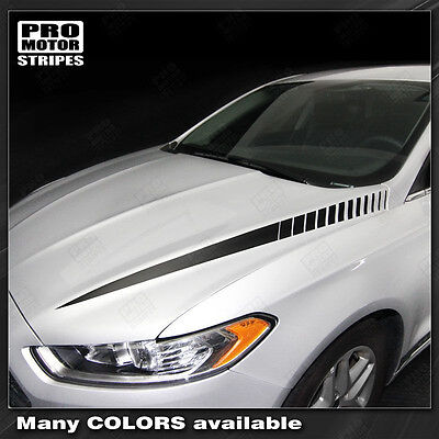 Ford Mustang 2010-2012 Hood Cowl Side Spear Stripes Decals Pair Choose Color