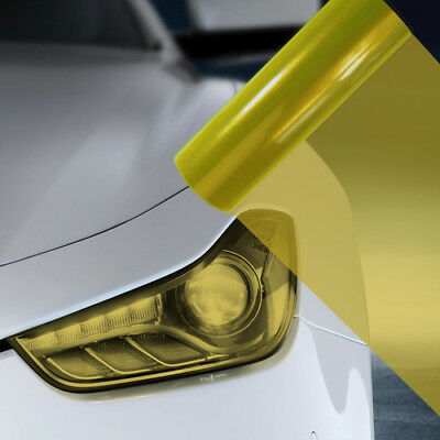 A4 Yellow Car Headlight Fog Light Tint Film  FLY021