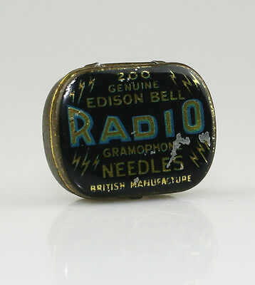 EDISON BELL 'Radio' Gramophone Needle Tin - Fairly SCARCE (LZ99)
