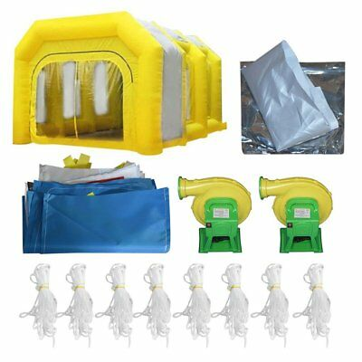 20ftx15ftx10ft Yellow Inflatable Spray Booth Inflatable Car Paint Booth Tent BA