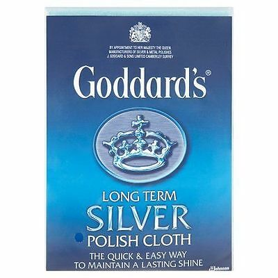 Goddards Long Term Silver Polish Polishing Cloth Duster Cleaner