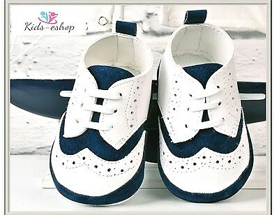 Baby Boy Faux Leather Pram Shoes Christening Wedding Smart Formal Party