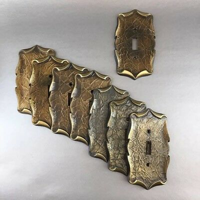 1 Of 8 Vintage Amerock Decorative Metal Single Switch Plate Covers Brass