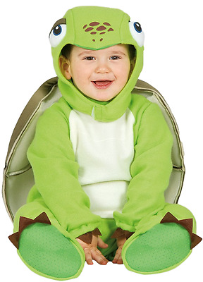 Baby Girls Boys Green Turtle Tortoise Sea Animal Fancy Dress Costume Outfit
