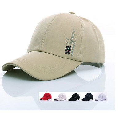 Boys Junior Mens Adjustable Baseball Cap Blank Sports Visor Sun Golf Ball Hat
