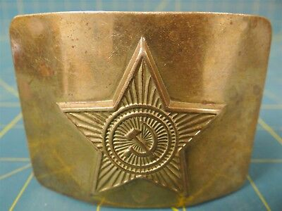 Vintage USSR Soviet Army Belt Buckle, Hammer and Sickle, Authentic