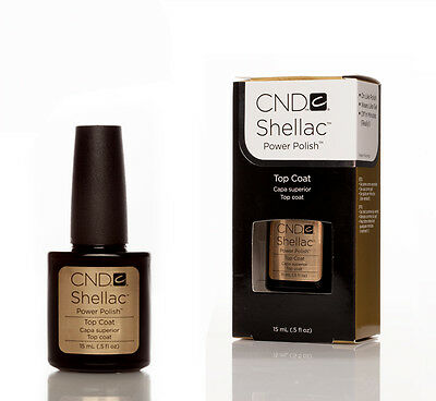 CND Shellac Nail Polish, Top Coat.