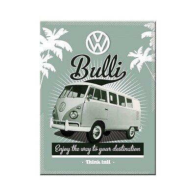 VW Retro Bulli Old Volkswagen Camper Van Garage Novelty Fridge Magnet