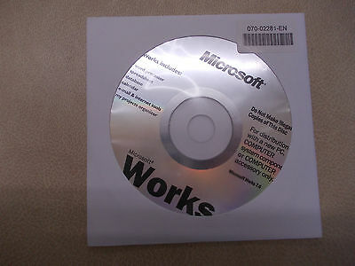 Microsoft Works 7 NEW
