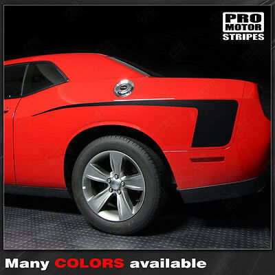 Dodge Challenger Rear Quarter Side Stripes Decals 2015 2016 2017 2018 2019