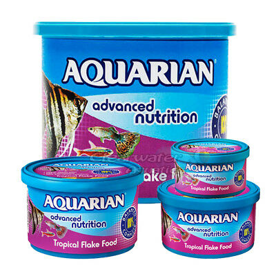 Aquarian Tropical Flake Fish Food 25G 50G 200G