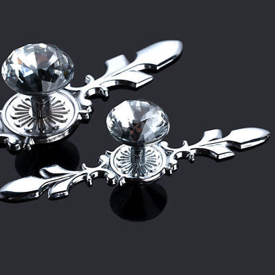 2/5/10PCS Glass Crystal Dresser Knobs Drawer Furniture Pull Handle Cabinet Door