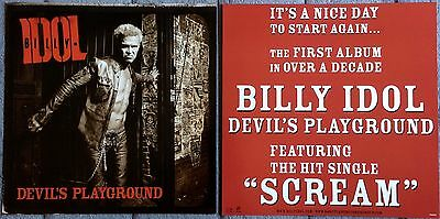 Billy Idol Devil's Playground '05 RARE promo 12 x 12 poster flat