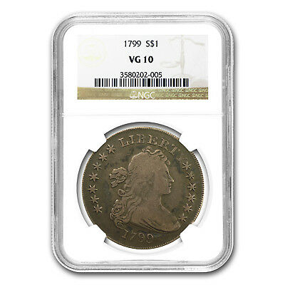 1799 Draped Bust Dollar VG-10 NGC - SKU#70863