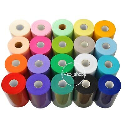 6inch x 100yards Tulle Roll Spool Ribbon Tutu Table Skirt Party DIY Craft Decor