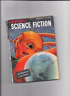 Astounding Science Fiction Ice World By Hal Clement October 1951