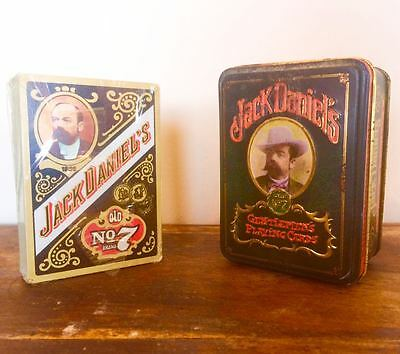 Jack Daniel' s Single Barrel Hudson-Scott&Sons Playing Cards Deck with Metal Box