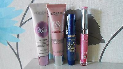 Bourjoise Loreal Maybelline Mixed Job Lot 4 Makeup Mascara True Match Lip Gloss