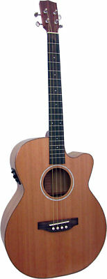Ashbury LINDISFARNE TENOR GUITAR. Sold Cedar Top & Koa body. From Hobgoblin
