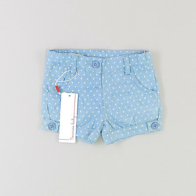 Shorts color Azul marca Newness 6 Meses