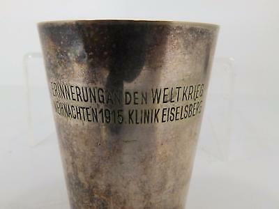Antique World War I Remembrance Cup, Germany 1915, Eiselberg Hospital, Xmas Eve