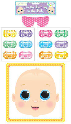 Pin The Dummy on The Baby Multi Player Baby Shower Party Game Unisex Boy / Girl