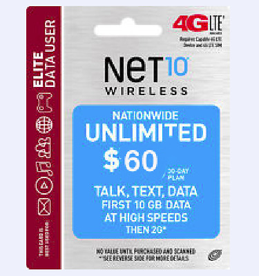 Net 10 Refill Service. Get the $60 refill for only $39 Unlimited Talk&Text +10GB