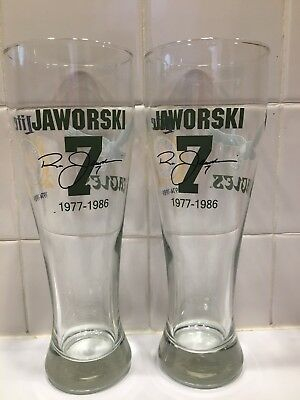 Philadelphia Eagles / Ron Jaworski #7 / Miller Lite 23oz Pilsner Style Glasses