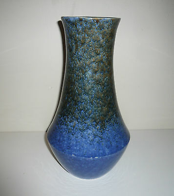 Early Tall  R Fowler Ltd Thomastown Mottled Blue Vase With Old Chip To Rim