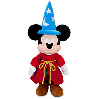 Disney Store Sorcerer Mickey Mouse Plush Medium 24'' Toy New With Tags