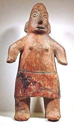 Pre-Columbian Tall Female Pihuamo Figure Jalisco  Ex Sotheby '79