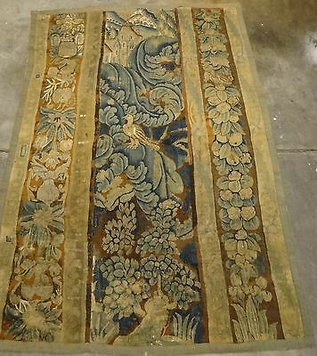 """Very Fine Flemish/French Verdure 17th cent. woven wool tapestry. Apx. 90"""" x 63""""."""