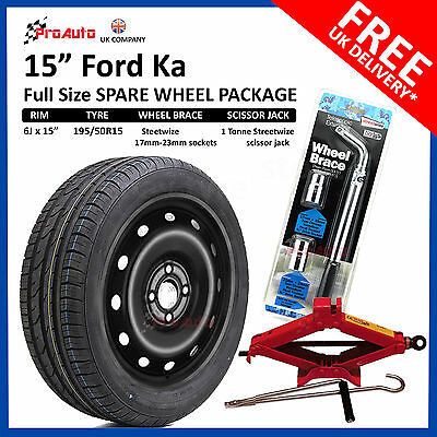 Ford Ka  Full Size Steel Spare Wheel And Tyre Free