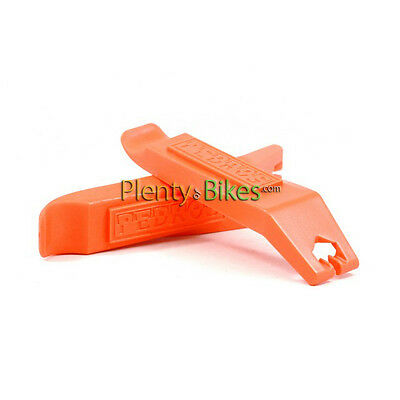 Orange Pedros 2pc Plastic Wheel Rim Tire Levers Removal Install Bicycle Tool Set