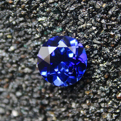 Lab Created Blue Sapphire 7Mm Diamond Free & Fast Delivery - Limited Stock