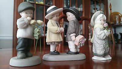 Pretty as a Picture Enesco Kim Anderson Porcelain Figurines Lot of 3