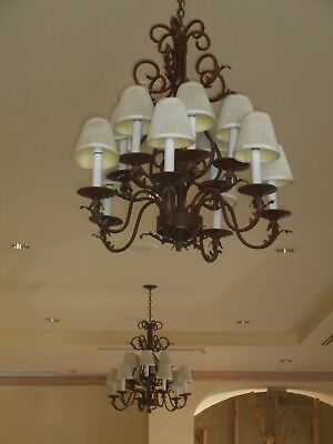 Chandelier Lighting. Rustic, Tuscan, Southwestern, elegant, very good condition.