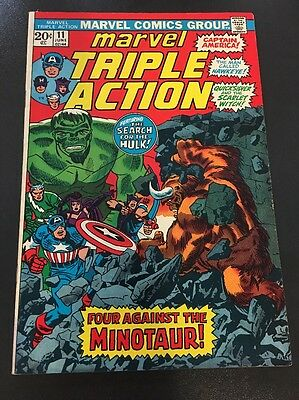 The Avengers starring in Marvel Triple Action #11 Cents Issue