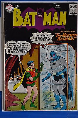 Batman # 118 : Very Good : Sept 1958 : Dc Comics.(Comic Books).