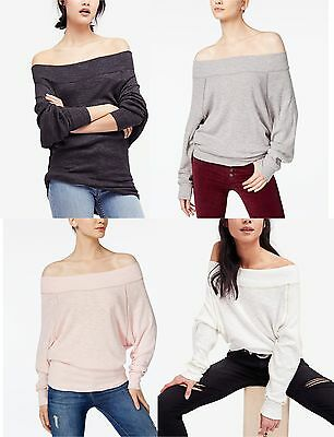 002c721f1de FREE PEOPLE Women Pullover Palisades Off Shoulder Thermal Sweater Tops  Knitwear