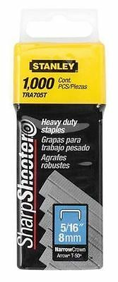 """Stanley Heavy Duty Staples 5/16"""" (8mm) Pack of 1000: TRA705T"""