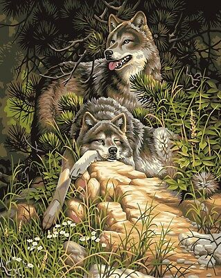Abstract Wolf Art Painting wild animal High Quality wall Art poster Choose Size