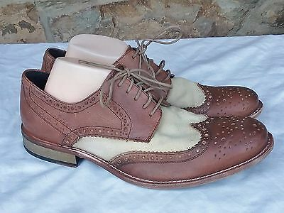 7289aab0d5 Kenneth Cole New York MENS Mind Tricks Wingtip Oxford Dress SHOES Brown US  11