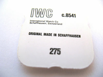 Iwc 8541 Watch Sweep Seconds Pinion Part Number 275